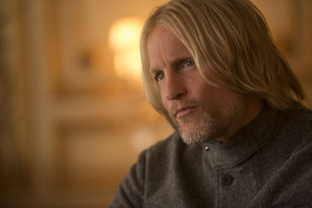 Kämpft an der Seite von Katniss für ein menschenwürdiges Leben der Einwohner von Panem: Haymitch (Woody Harrelson) ... - Bildquelle: Murray Close TM &   2015 Lions Gate Entertainment Inc. All rights reserved.