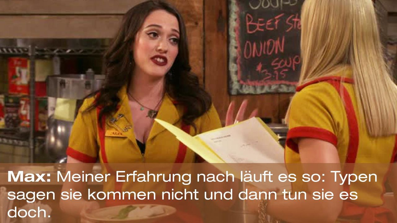 2-broke-girls-zitat-quote-staffel2-episode10-grosse-eroeffnung-max-typen-warnerpng 1600 x 900 - Bildquelle: Warner Bros. International Television