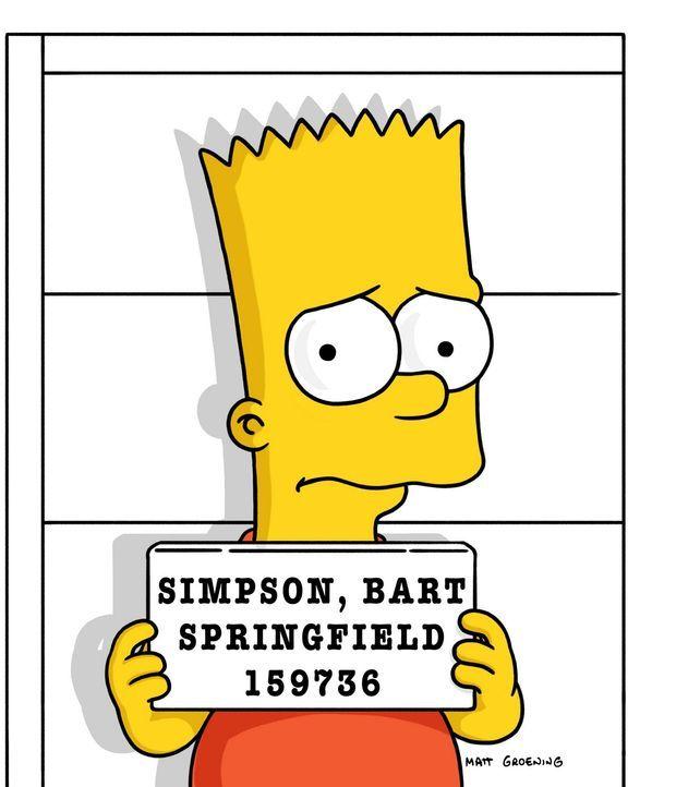 Der Verurteilte: Bart Simpson ... - Bildquelle: und TM Twentieth Century Fox Film Corporation - Alle Rechte vorbehalten
