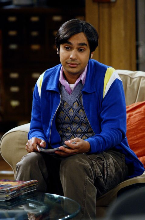 Will die Nacht in seinem Büro verbringen, weil er mit einem ferngesteuerten Teleskop Planeten beobachten möchte: Raj (Kunal Nayyar) ... - Bildquelle: Warner Bros. Television