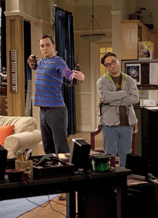 Sheldon Cooper (Jim Parsons, l.); Leonard Hofstadter (Johnny Galecki, r.) - Bildquelle: Justina Mintz 2011 CBS Broadcasting Inc. All Rights Reserved / Justina Mintz
