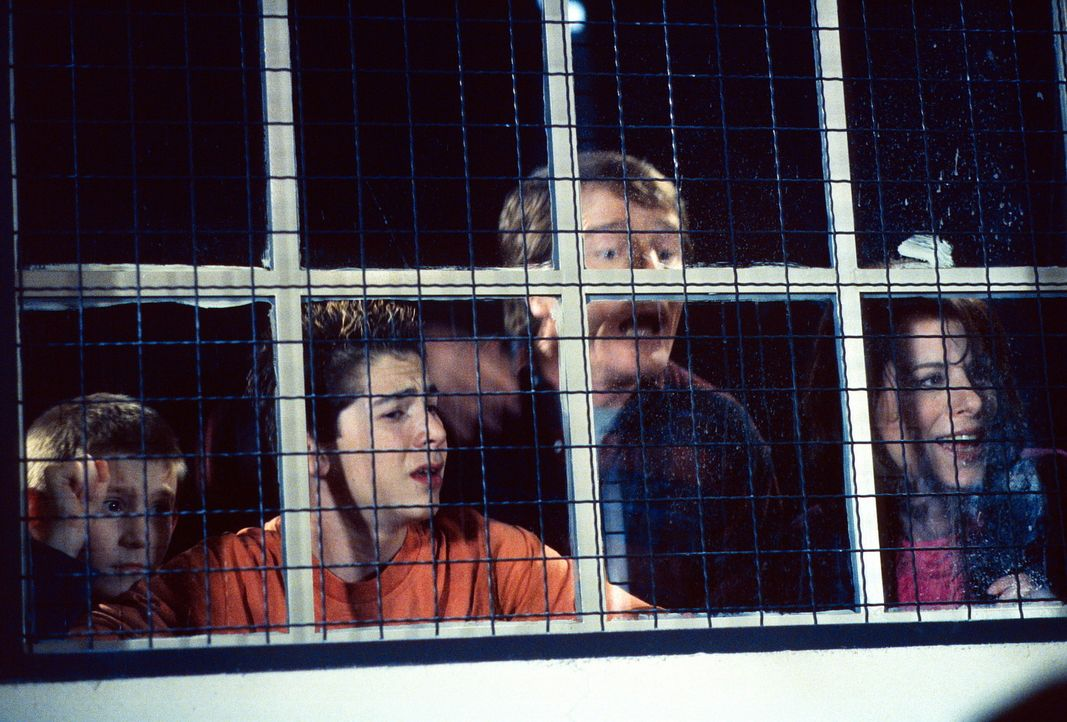Dewey (Erik Per Sullivan, l.), Reese (Justin Berfield, 2.v.l.), Hal (Bryan Cranston, 2.v.r.) und Lois (Jane Kaczmarek, r.) beobachten, wie ihre Couc... - Bildquelle: TM +   2000 Twentieth Century Fox Film Corporation. All Rights Reserved.