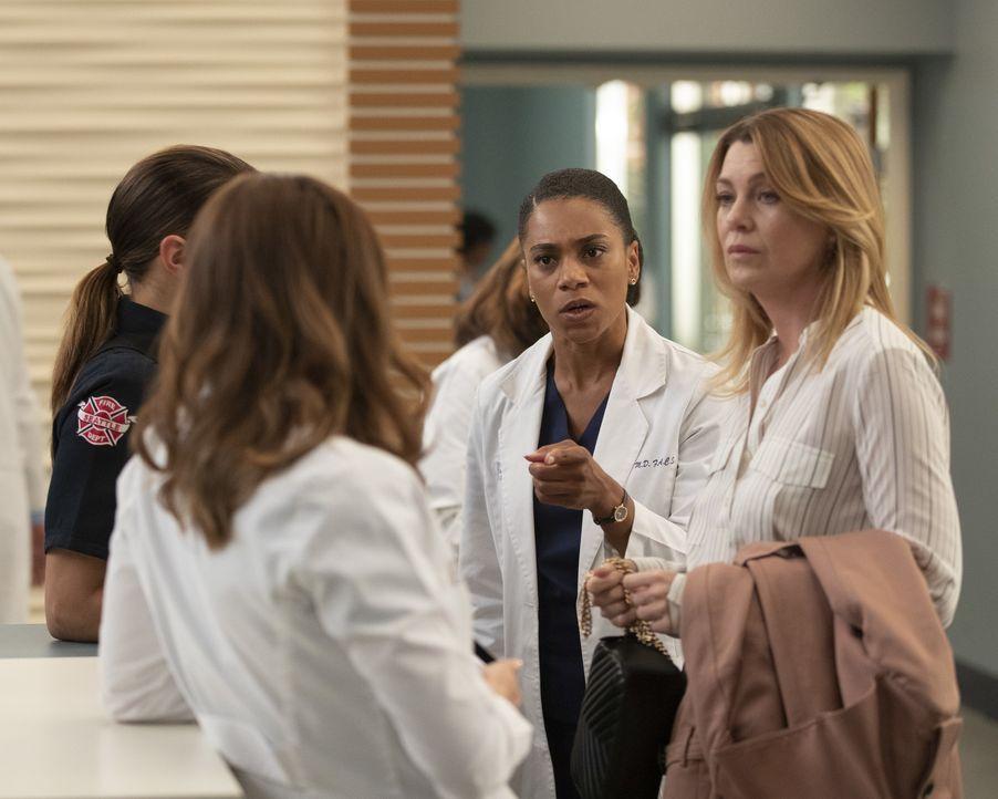 Dr. Maggie Pierce (Kelly McCreary, l.); Dr. Meredith Grey (Ellen Pompeo, r.) - Bildquelle: Rick Rowell ABC Studios/Rick Rowell