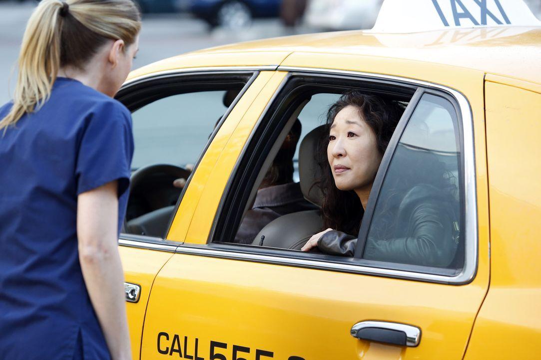 Müssen Abschied voneinander nehmen: Meredith (Ellen Pompeo, l.) und Cristina (Sandra Oh, r.) ... - Bildquelle: Kelsey McNeal 2014 American Broadcasting Companies, Inc. All rights reserved.