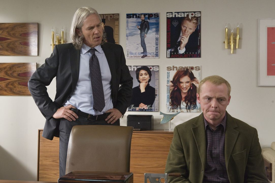 Sidney Young (Simon Pegg, r.) scheitert in London mit seinem eigenen Magazin, träumt aber nach wie vor davon, in die Welt der Celebrities einzutauc... - Bildquelle: UK Film Council/ Channel Four Television Corporation /Alienate Limited 2008