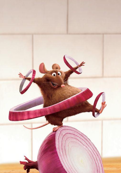 Frisch gewaschen und desinfiziert übernimmt Emile das Schälen der Zwiebeln. Eile ist geboten, denn der berühmte Restaurantkritiker Ego kommt zu B... - Bildquelle: Disney/Pixar.  All rights reserved