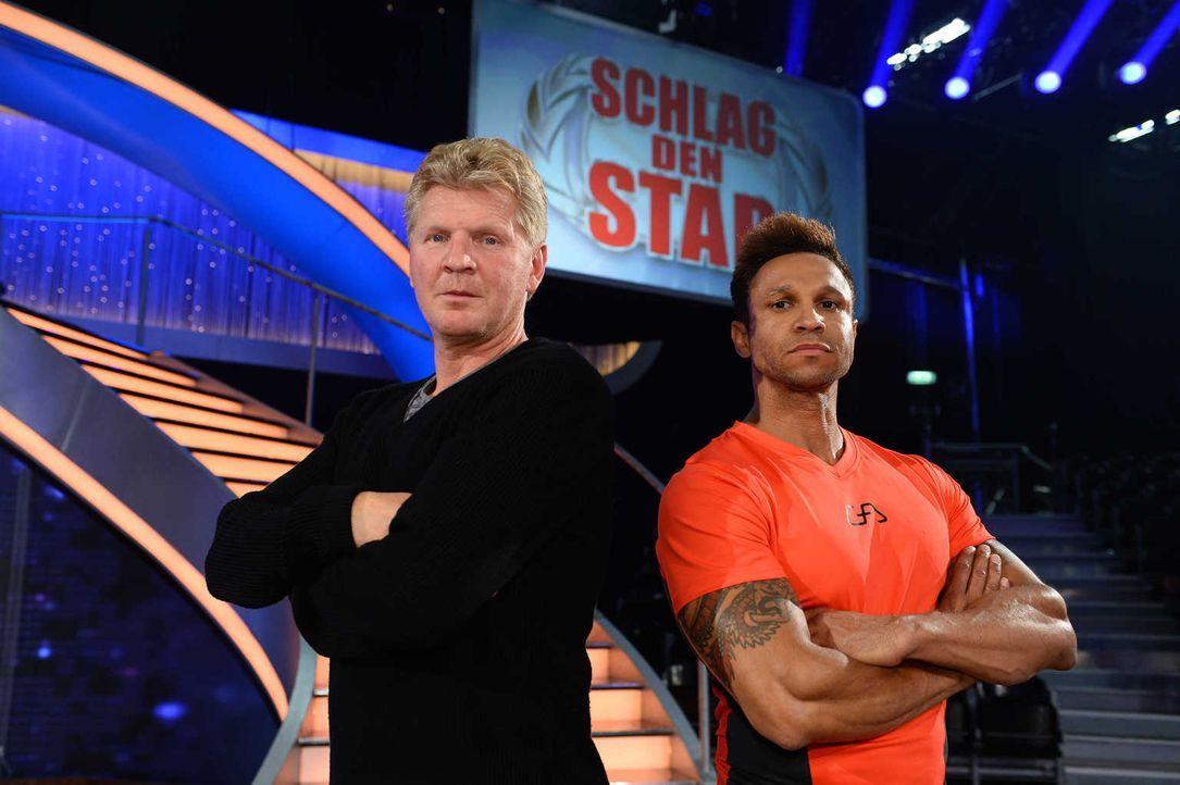 Wer wird den Sieg davontragen? Daniel Aminati (r.) oder Stefan Effenberg (l.) ... - Bildquelle: Willi Weber ProSieben