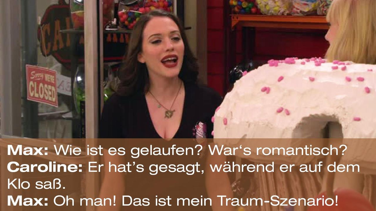 2-broke-girls-zitat-quote-staffel2-episode11-geschaeftspartnerin-max-traumszenario-warnerpng 1600 x 900 - Bildquelle: Warner Bros. International Television