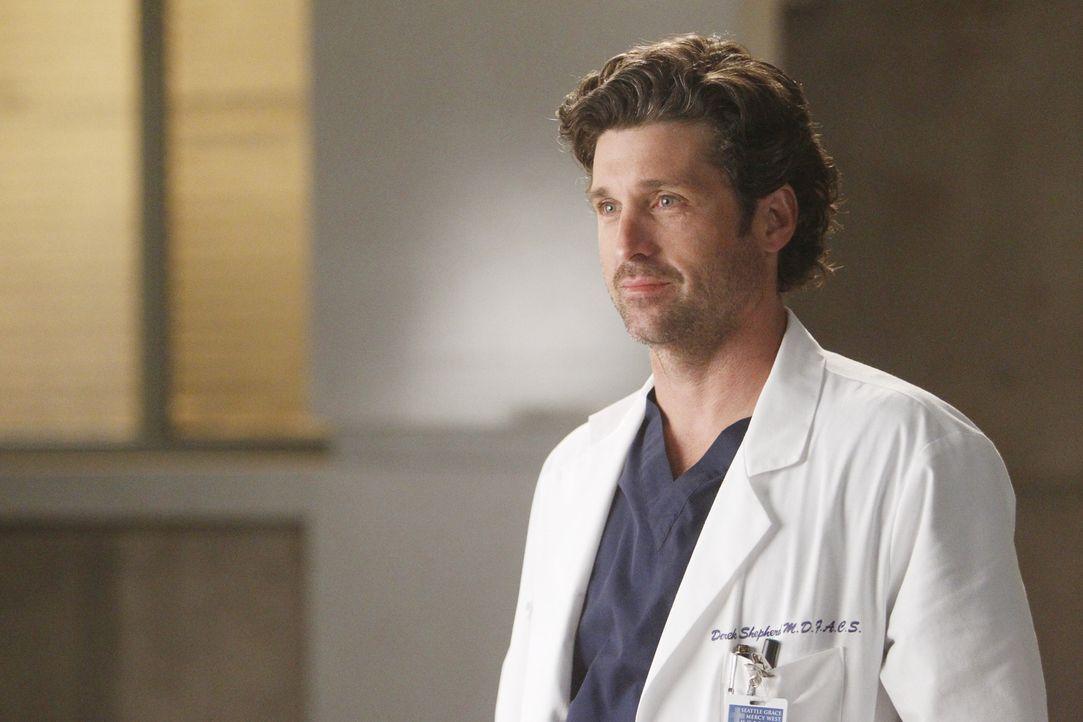 Während Teddy um das Leben ihres Mannes bangen muss, erhält Derek (Patrick Dempsey) eine Nachricht wegen Zola ... - Bildquelle: ABC Studios