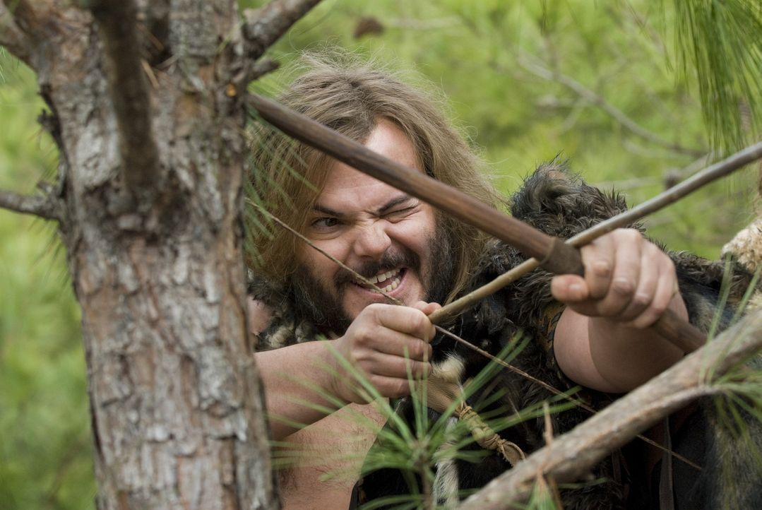 Was ist der Sinn des Lebens? Diese Frage stellt sich der Dorfbewohner und notorische Faulenzer Zed (Jack Black), nachdem er vom Baum der Weisheit ge... - Bildquelle: 2009 Columbia Pictures Industries, Inc. All Rights Reserved.