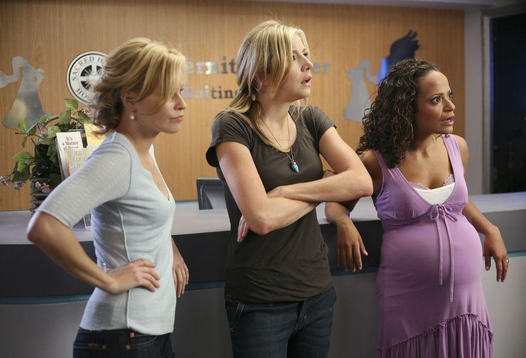Stehen vor einem neuen Lebensabschnitt: Elliott (Sarah Chalke, M.), Carla (Judy Reyes, r.) und Kim (Elizabeth Banks, l.) ... - Bildquelle: Touchstone Television