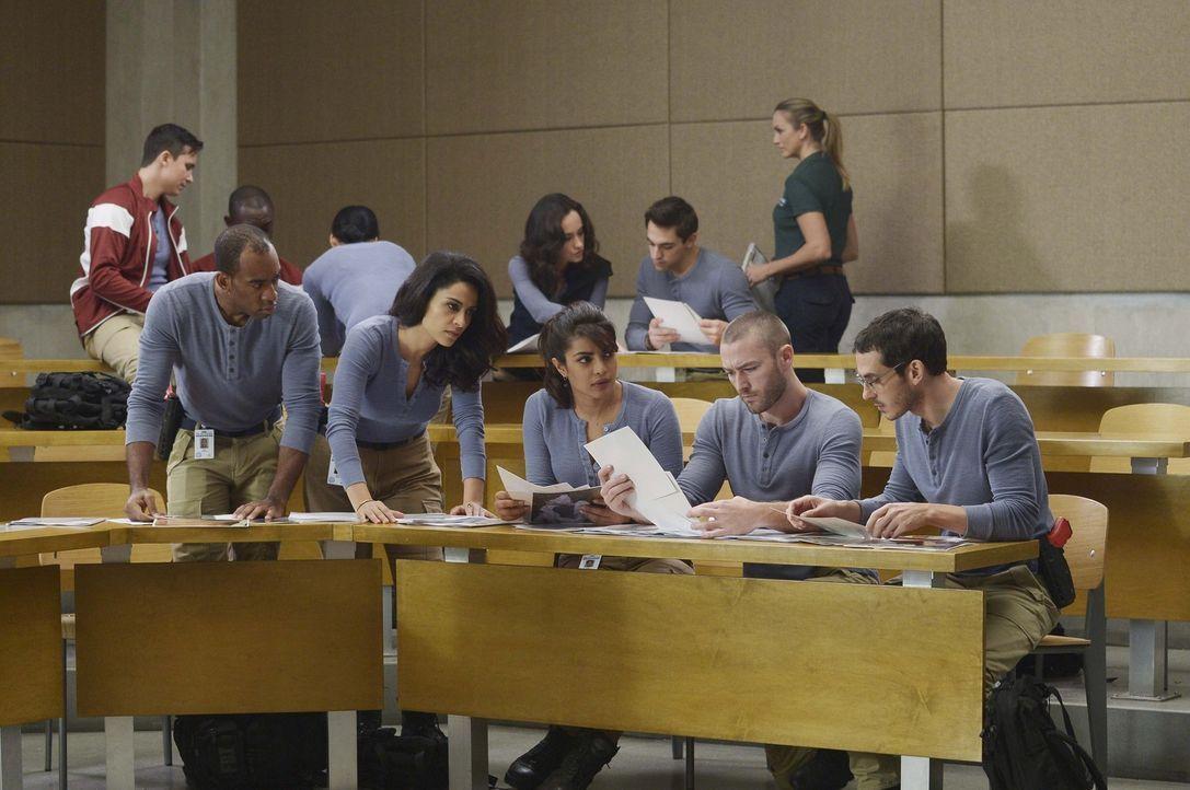 Neue Aufgaben warten auf die Rekruten: Ryan (Jake McLaughlin, vorne 2.v.r.), Simon (Tate Ellington, vorne r.) und Nimah (Yasmine Al Massri, vorne 2.... - Bildquelle: Philippe Bosse 2015 ABC Studios