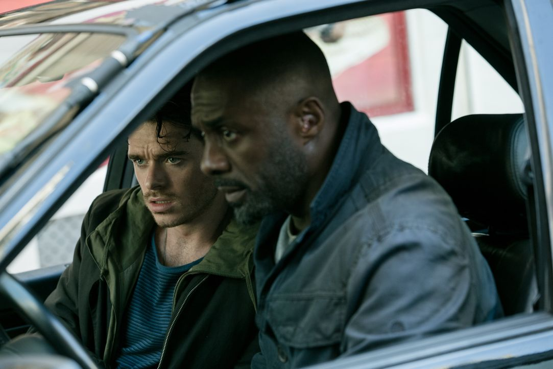 Michael Mason (Richard Madden, l.); Sean Briar (Idris Elba, r.) - Bildquelle: 2016 STUDIOCANAL S.A. TF1 FILMS PRODUCTION S.A.S. ALL RIGHTS RESERVED.