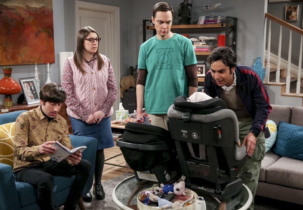(v.l.n.r.) Howard Wolowitz (Simon Helberg); Amy Farrah Fowler (Mayim Bialik); Sheldon Cooper (Jim Parsons); Rajesh Koothrappali (Kunal Nayyar) - Bildquelle: Michael Yarish 2019 WBEI. All rights reserved. / Michael Yarish