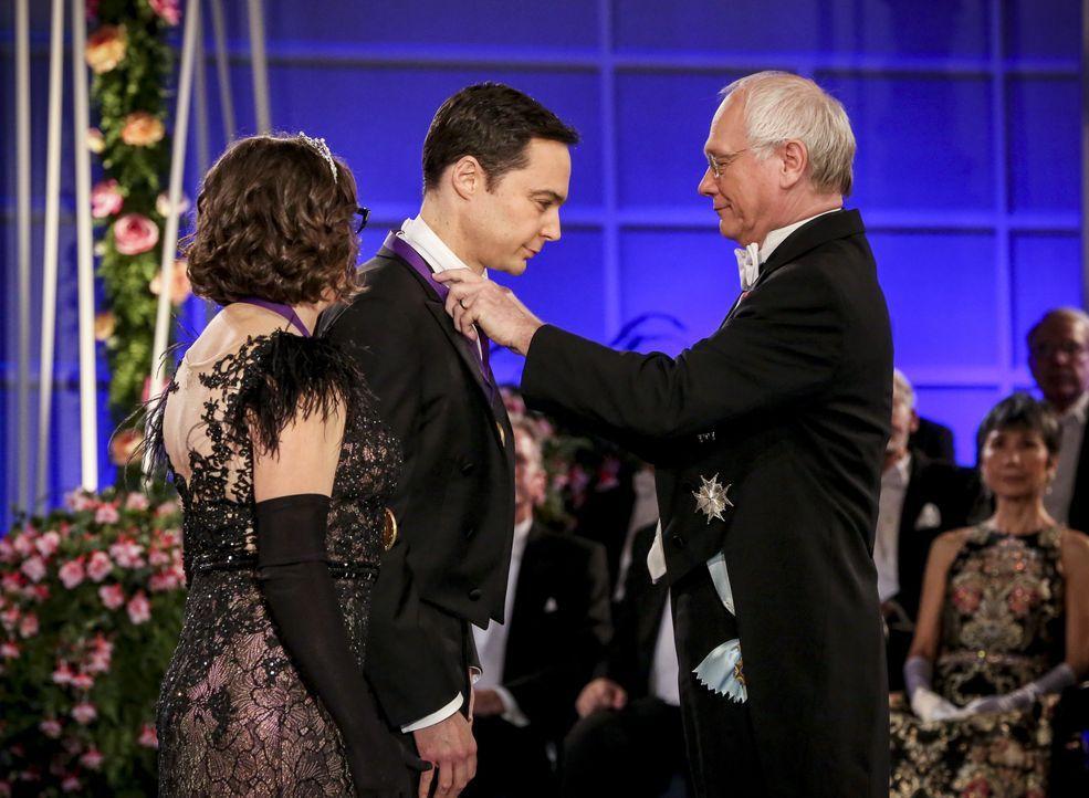 Amy Farrah Fowler (Mayim Bialik, l.); Sheldon Cooper (Jim Parsons, M.) - Bildquelle: Michael Yarish 2019 CBS Broadcasting, Inc. All Rights Reserved / Michael Yarish