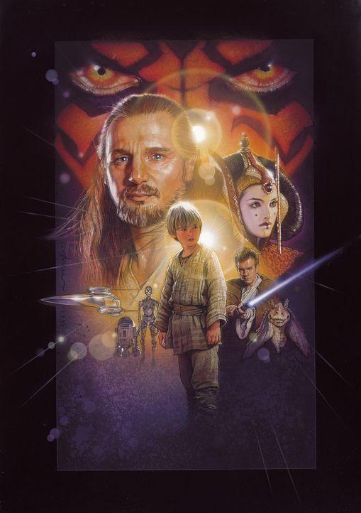 """""""Möge die Macht mit euch sein"""" : Qui-Gon Jinn (Liam Neeson, l.), Obi-Wan Kenobi (Ewan McGregor, r.), Königin Amidala (Natalie Portman, r.) und der... - Bildquelle: 1999 Lucasfilm Ltd. & TM All rights reserved Used with permission"""
