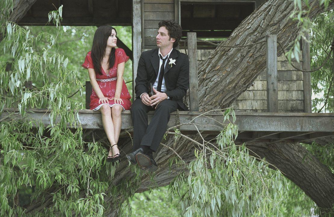 Michael (Zach Braff, r.) steckt in einer tiefen Sinnkrise. Nur Kim (Rachel Bilson, l.) kann ihn aufmuntern. Doch das hat fatale Folgen für seine Bez... - Bildquelle: DreamWorks Pictures