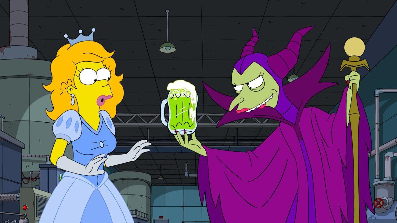 Disney Prinzessin Homer (l.); Böse Hexe Burns (r.) - Bildquelle: 2020 by Twentieth Century Fox Film Corporation.