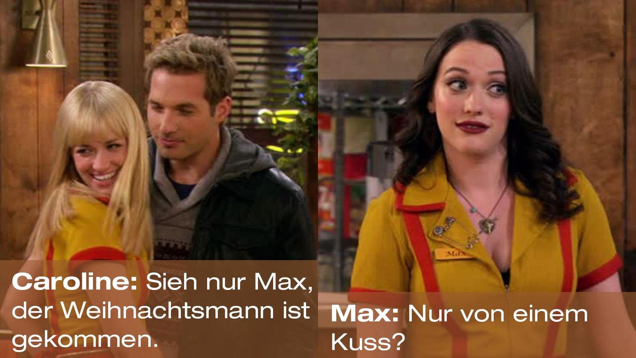 2-broke-girls-zitat-quote-staffel2-episode12-breite-weihnachten-max-weihnachtsmann-warnerpng 1600 x 900 - Bildquelle: Warner Bros. International Television