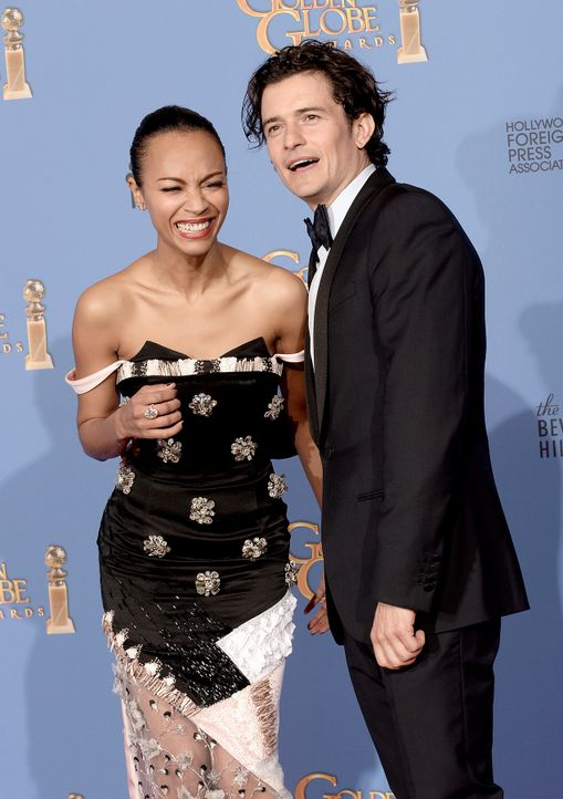 Golden-Globe-Zoe-Saldana-Orlando-Bloom-14-01-12-getty-AFP - Bildquelle: getty-AFP