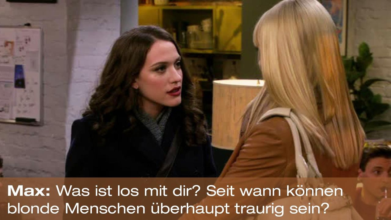 2-broke-girls-zitat-quote-staffel2-episode12-breite-weihnachten-max-blonde-warnerpng 1600 x 900 - Bildquelle: Warner Bros. International Television