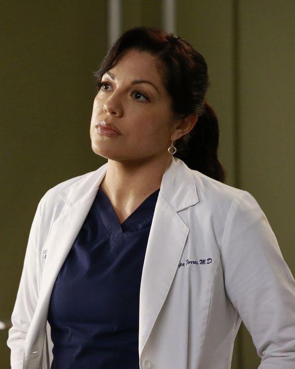 Während sich alle um Meredith kümmern, beschließen Maggie und Callie (Sara Ramirez), einen riskanten und recht experimentellen Eingriff an dem 15-jä... - Bildquelle: Michael Hassan ABC Studios
