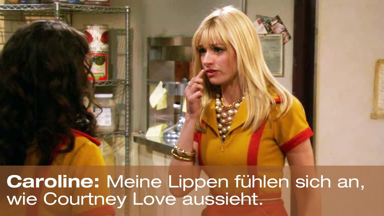 2-broke-girls-zitat-episode-15-staffel-1-unbekannte-nachbar-courtney-love-warnerpng 1600 x 900 - Bildquelle: Warner Brothers Entertainment Inc.