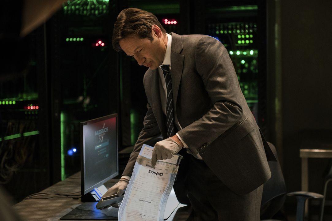 Findet Mulder (David Duchovny) in den Unterlagen des toten Wissenschaftlers wichtige Hinweise für den wahren Grund seines angeblichen Selbstmordes? - Bildquelle: Ed Araquel 2016 Fox and its related entities.  All rights reserved.