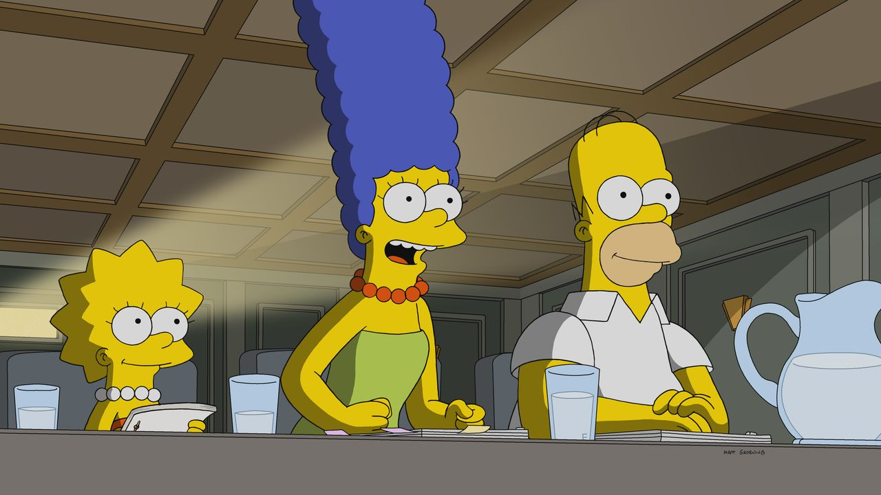 (v.l.n.r.) Lisa; Marge; Homer - Bildquelle: 2018-2019 Fox and its related entities.  All rights reserved.