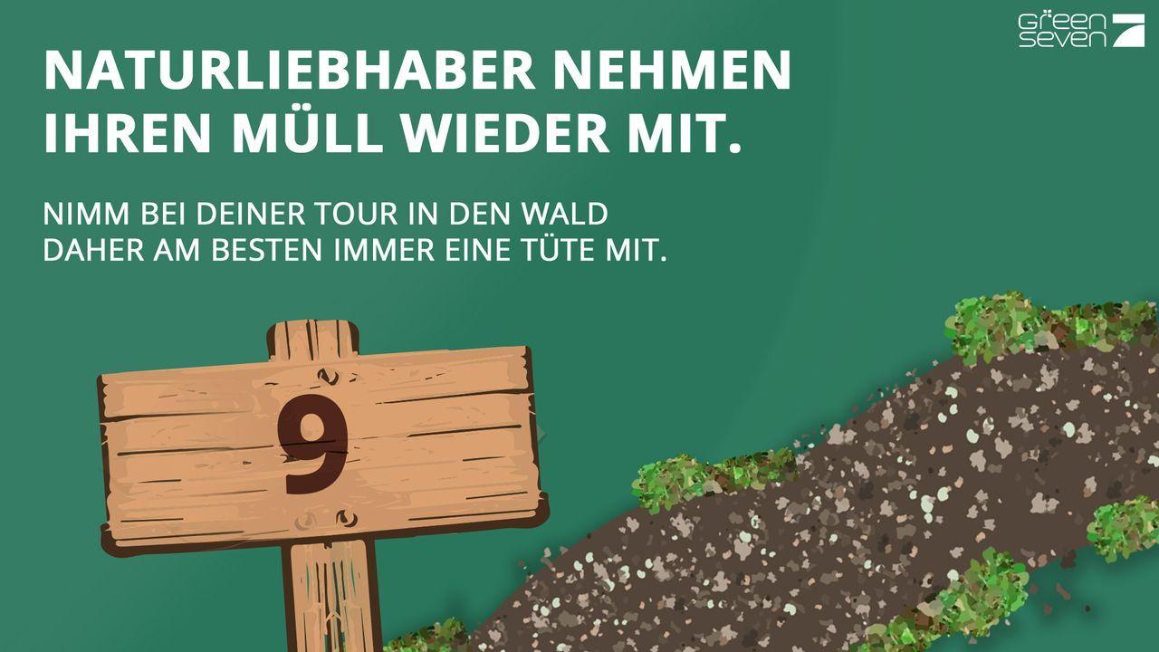 Keinen Müll im Wald entsorgen - Bildquelle: ProSieben