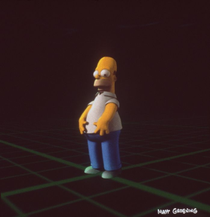 """Homer stürzt beim Versuch, dem angekündigten Besuch seiner Schwägerinnen Patty und Selma zu entkommen, in ein """"Schwarzes Loch"""" ... - Bildquelle: und TM Twenthieth Century Fox Film Corporation - Alle Rechte vorbehalten"""