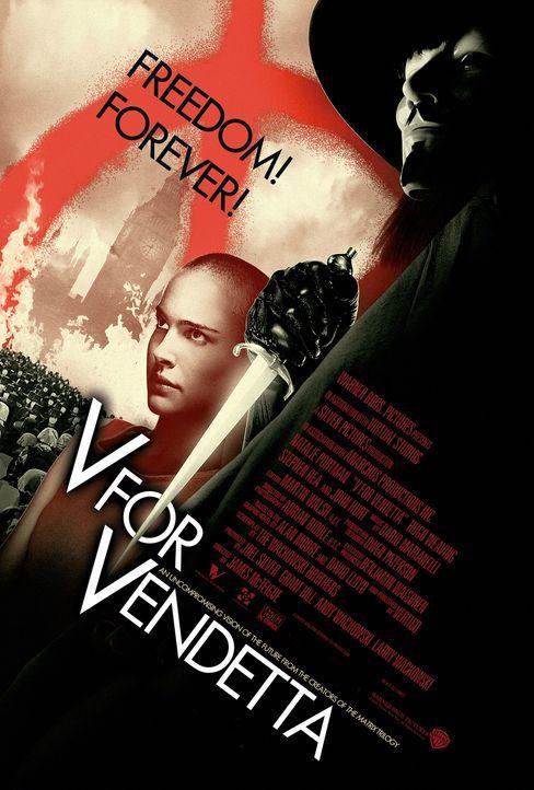 Vendetta (Hugo Weaving, r.) ist ein maskierter Freiheitskämpfer, der im Kampf gegen einen autoritären Staat seine persönliche Rache verfolgt und gle... - Bildquelle: Warner Bros. Pictures