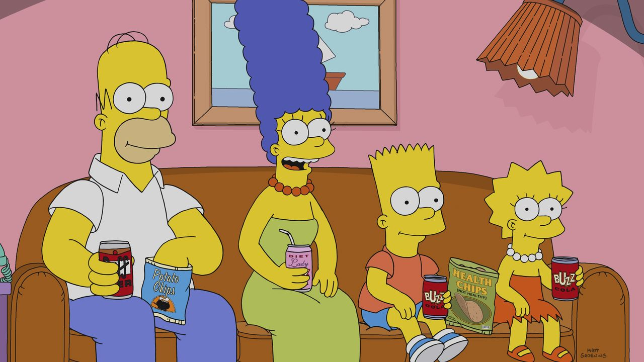 (v.l.n.r.) Homer; Marge; Bart, Lisa - Bildquelle: 2018-2019 Fox and its related entities.  All rights reserved.