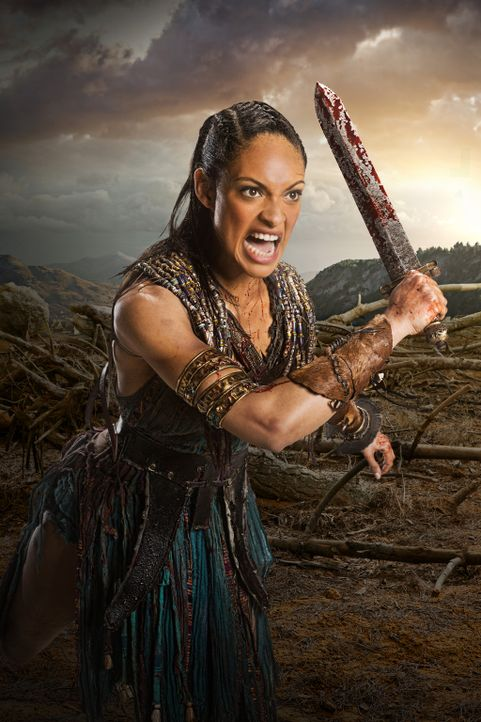 Kämpft bis zum letzten Atemzug: Naevia (Cynthia Addai-Robinson) ... - Bildquelle: 2012 Starz Entertainment, LLC. All rights reserved.