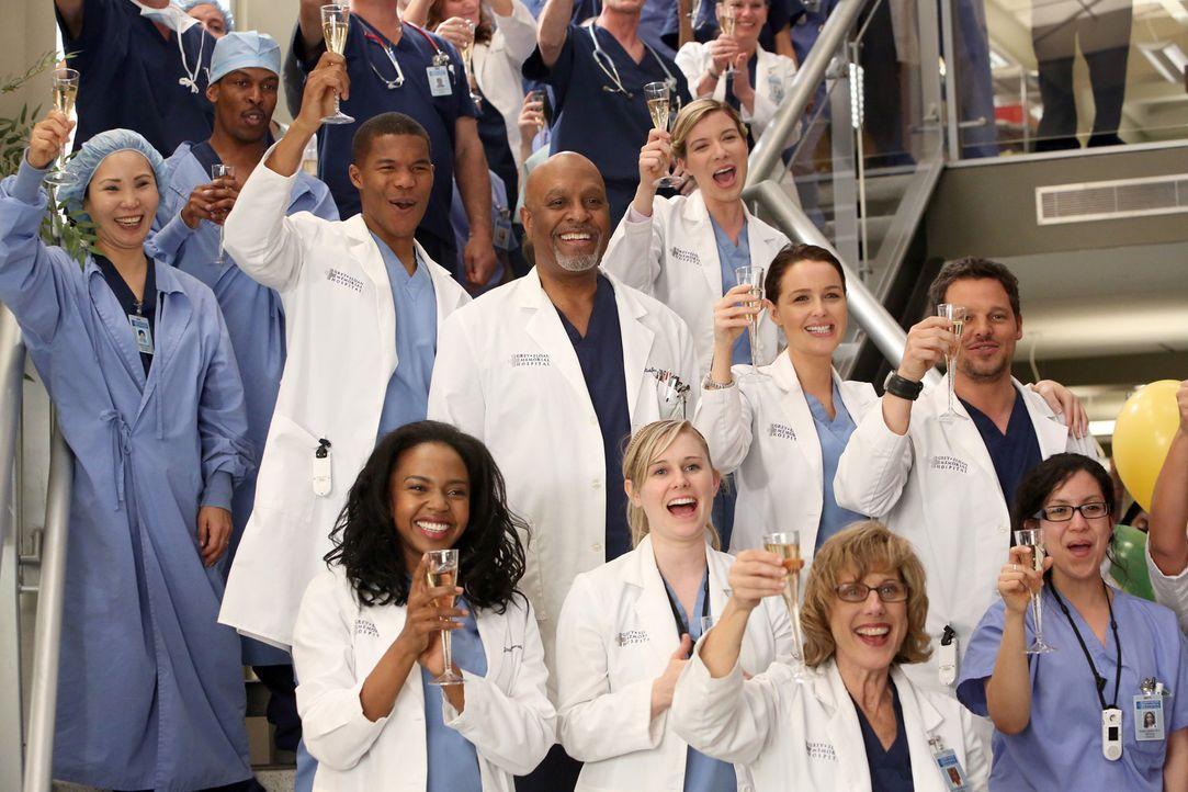 Ist stolz auf Cristina, die für den Harper Avery Award nominiert wurde: Richard (James Pickens jr., M.) ... - Bildquelle: ABC Studios