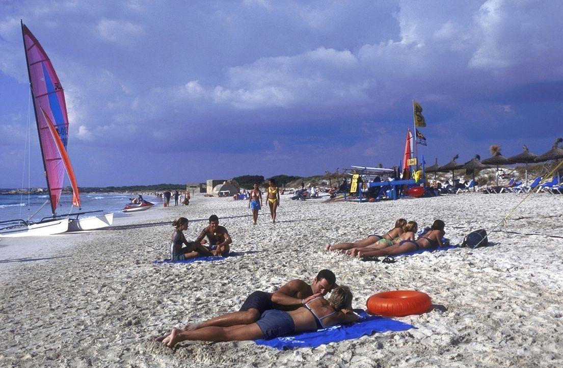 Bei dem herrlichem Sonnenschein auf Mallorca sind die Mädels leicht zu haben - glaubt jedenfalls David ... - Bildquelle: ProSieben