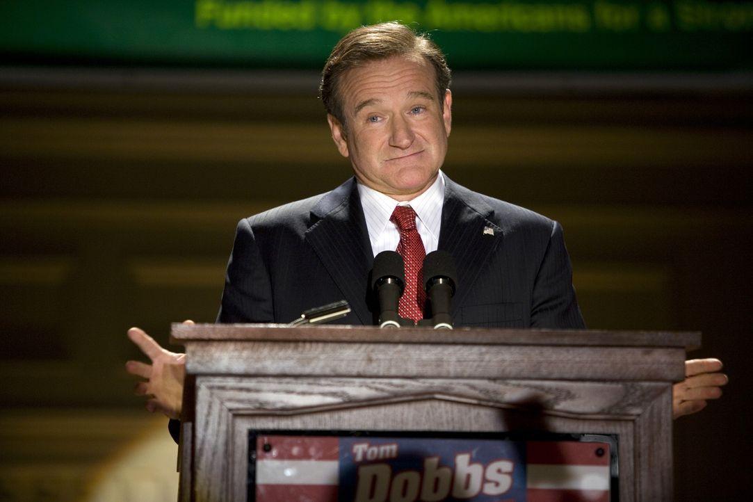Schandmaul des amerikanischen Polit-Fernsehens, Tom Dobbs (Robin Williams), findet sich auf einmal als Kandidat für die Präsidentschaft in den USA w... - Bildquelle: Morgan Creek International