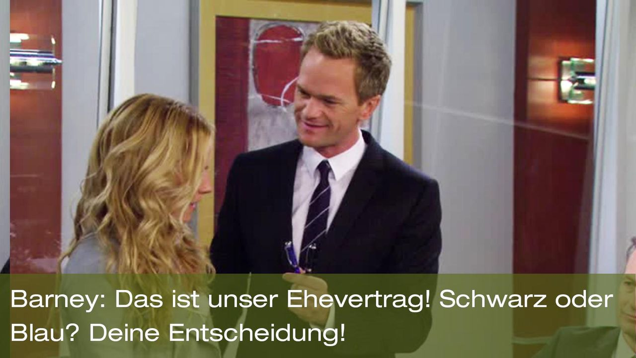 how-i-met-your-mother-zitat-quote-staffel-8-episode-2-prenup-klaus-zuhaus-1-barney-vertrag-foxpng 1600 x 900 - Bildquelle: 20th Century Fox