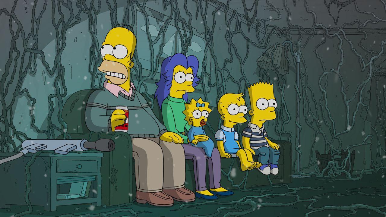 (v.l.n.r.) Homer; Marge; Maggie; Lisa; Bart - Bildquelle: 2019-2020 Twentieth Century Fox Film Corporation.  All rights reserved.