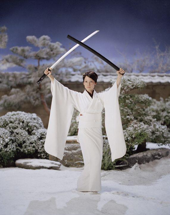 """O-Ren Ishi (Lucy Liu) nimmt die Herausforderung """"der Braut"""" an und kreuzt die Schwerter ... - Bildquelle: Miramax Films/Dimension Films. All Rights Reserved."""