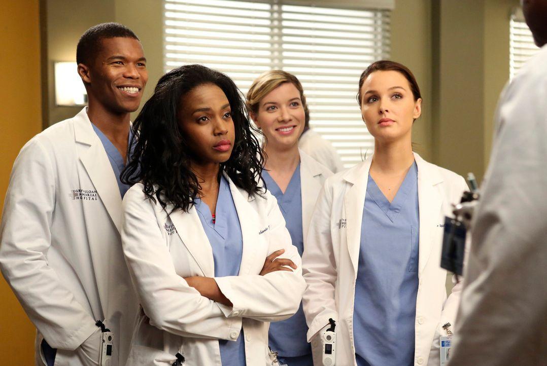 Im Krankenhaus berichtet Jo (Camilla Luddington, r.) Leah (Tessa Ferrer, 2.v.r.) und Stephanie (Jerrika Hinton, 2.v.l.) von Cristinas Nominierung fü... - Bildquelle: ABC Studios