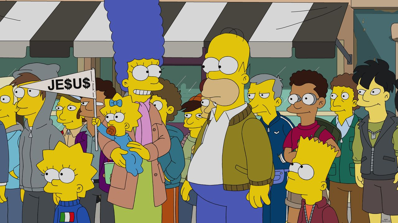 (v.l.n.r.) Lisa; Maggie; Marge; Homer; Bart - Bildquelle: 2019-2020 Twentieth Century Fox Film Corporation.  All rights reserved.