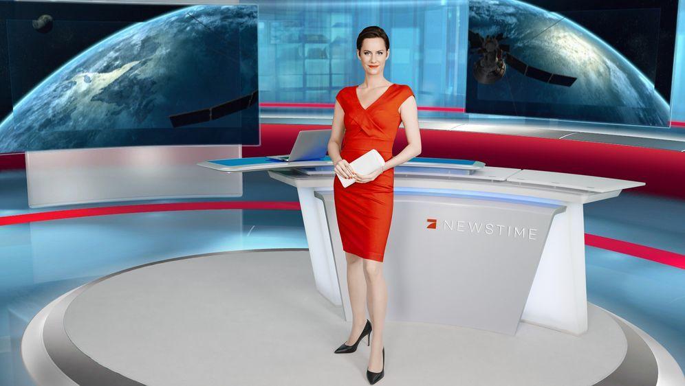 Newstime moderatorin leslie pro7 ProSieben Newstime