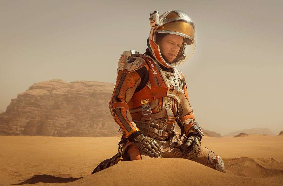 Als es auf dem Mars zu einem verheerenden Unfall kommt, bei dem Mark (Matt Damon) alle angebauten Pflanzen erfrieren, bleibt dem einsamen Astronaute... - Bildquelle: 2015 Twentieth Century Fox Film Corporation.  All rights reserved.