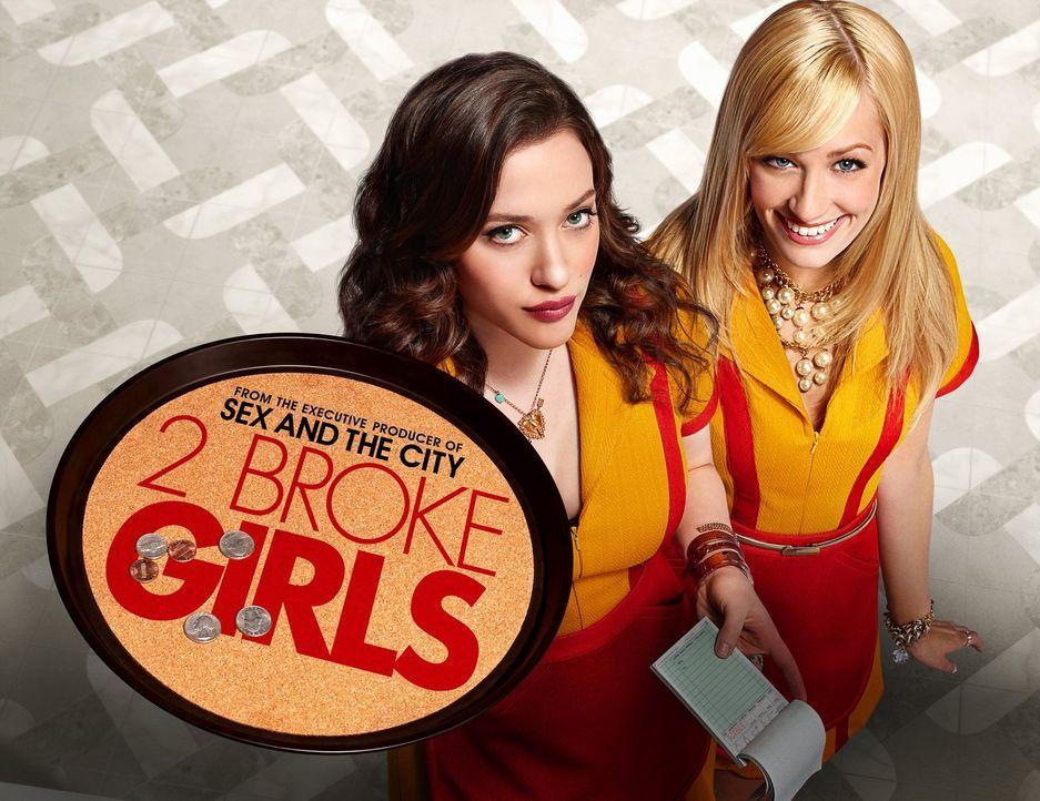 (1. Staffel) - 2 Broke Girls: Max Black (Kat Dennings, l.) und Caroline Channing (Beth Behrs, r.) ... - Bildquelle: Warner Brothers