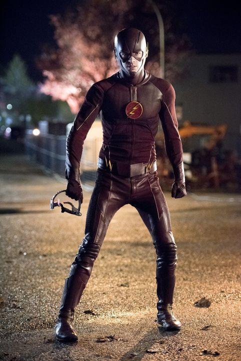 Kann sich Barry alias The Flas (Grant Gustin) wirklich gegen einen mit Superkräften ausgestatteten Gorilla durchsetzen? - Bildquelle: Warner Brothers.