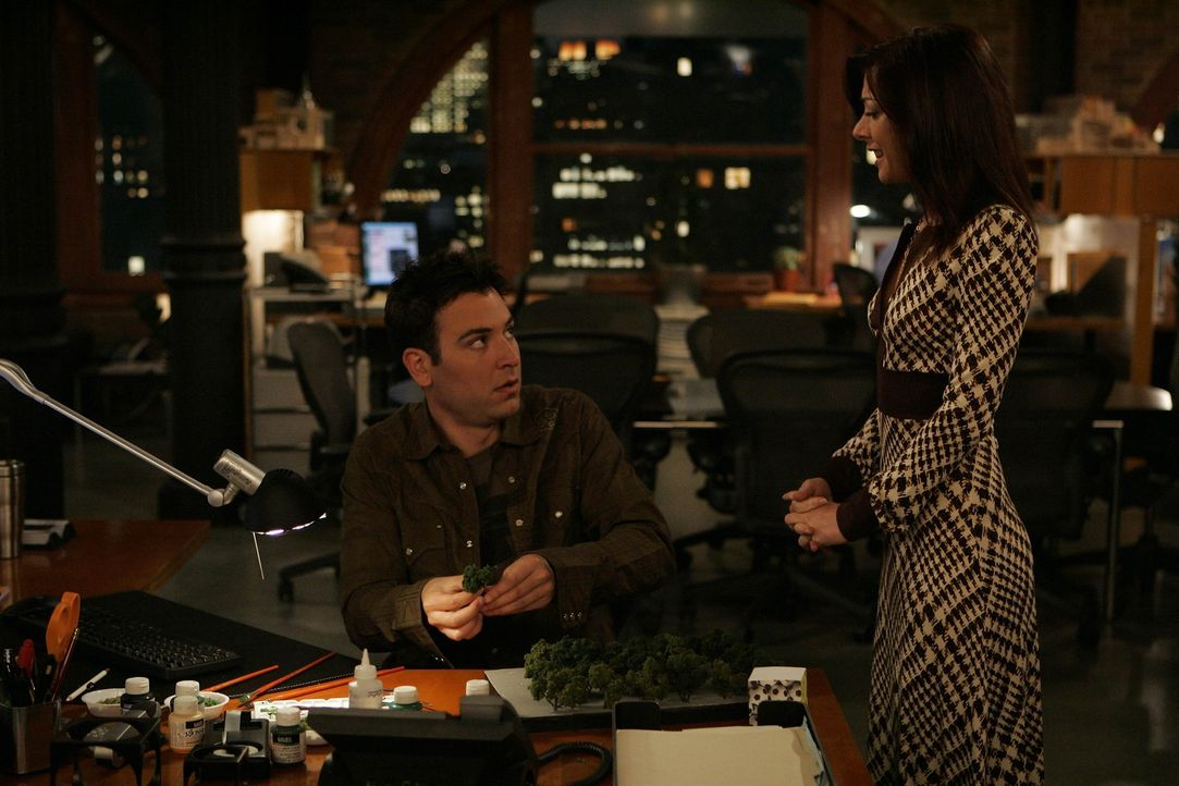 Da Lily (Alyson Hannigan, r.) immer noch auf der Suche nach ihrer Bestimmung ist, besorgt ihr Ted (Josh Radnor, l.) einen Job als Teamassistentin in... - Bildquelle: 20th Century Fox International Television