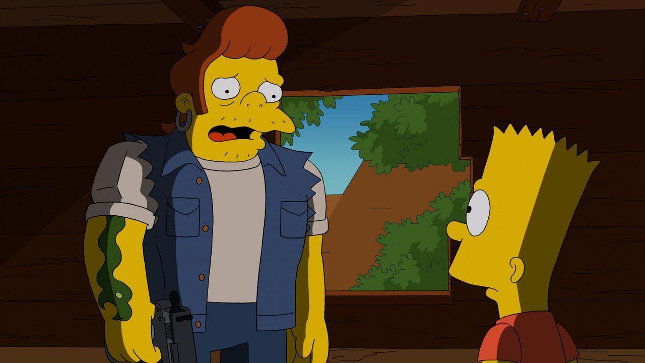 Auf der Suche nach einem Versteck trifft Bart (r.) auf den Räuber Snake (l.) auf der Flucht vor der Polizei. Als Snake erzählt, dass er den Raub nur... - Bildquelle: 2013 Twentieth Century Fox Film Corporation. All rights reserved.