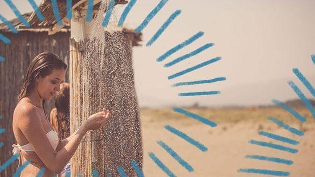 Salz- und Poolwasser, die dein Haar austrocknen