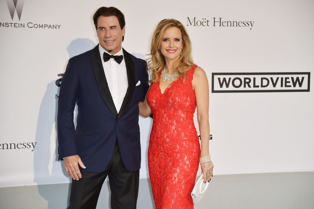 Cannes-Filmfestival-amfAR-John-Travolta-Kelly-Preston-140522-AFP - Bildquelle: AFP